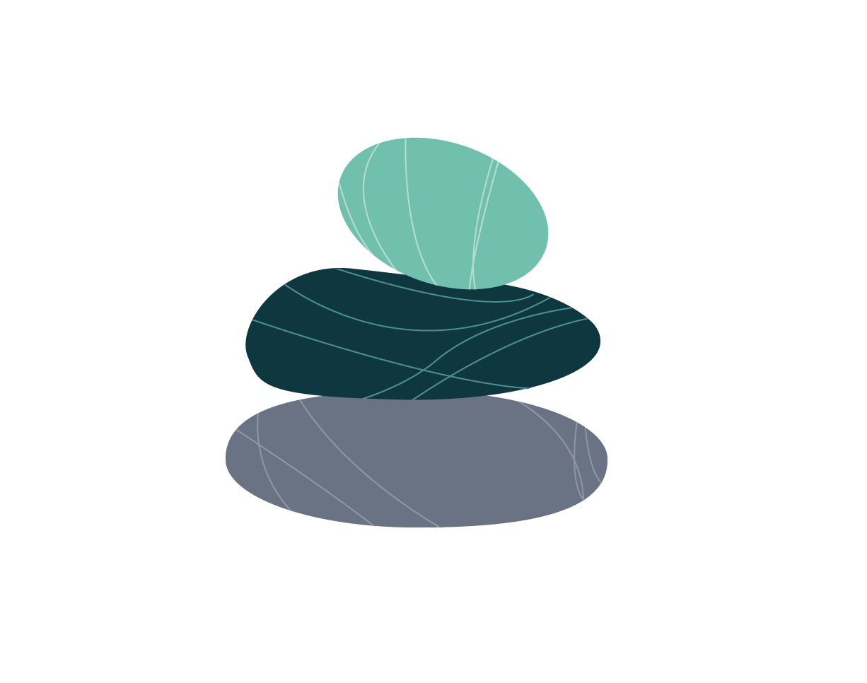 Icon of three stones stacked on each other
