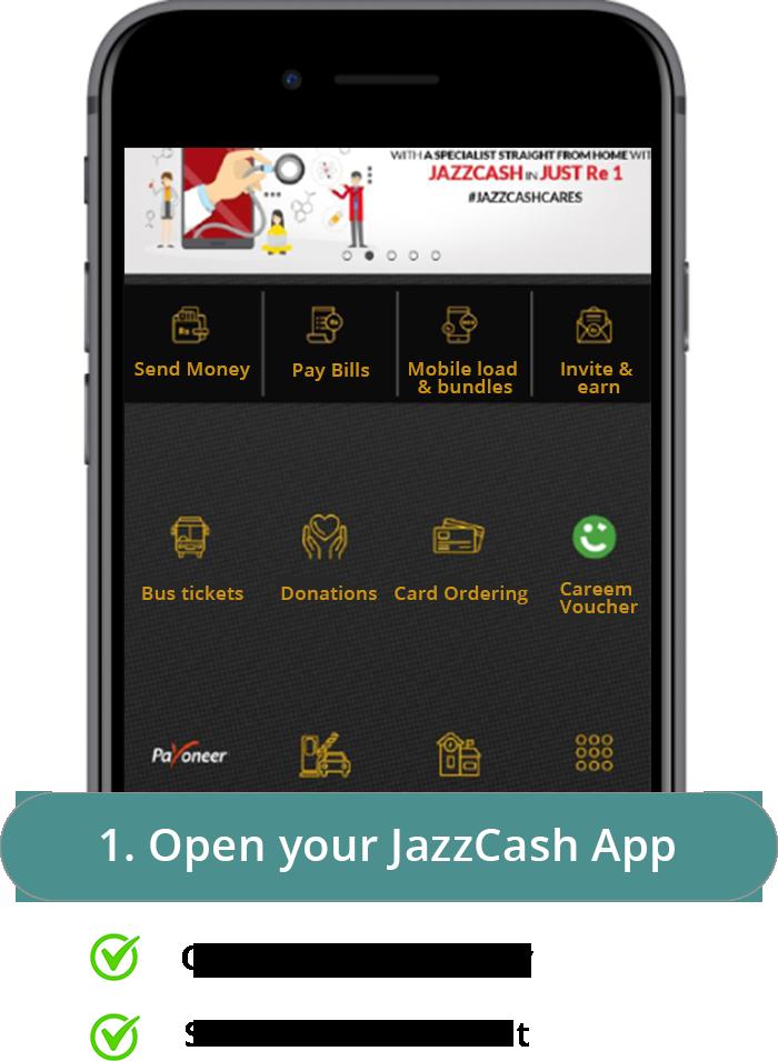 JazzCash Step 1