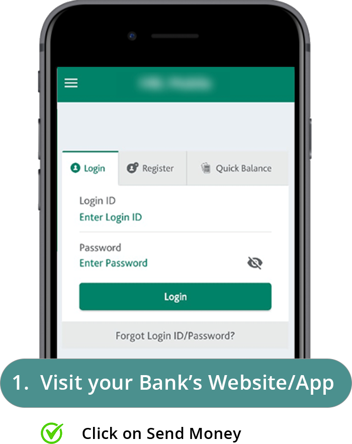 Online Bank Transfer Step 1