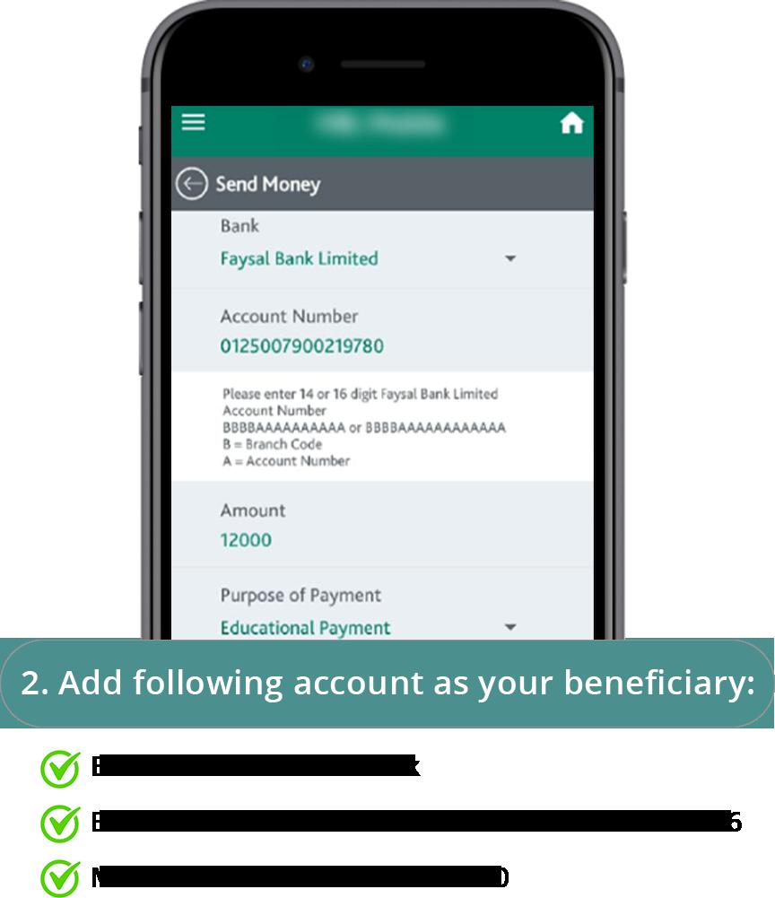 Online Bank Transfer Step 2